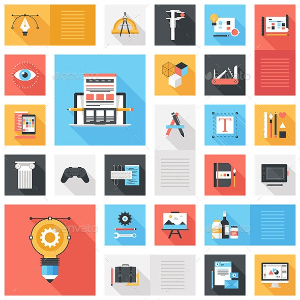 Design and Development Icons. - Technology Icons