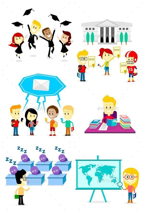 School Clipart - People Characters
