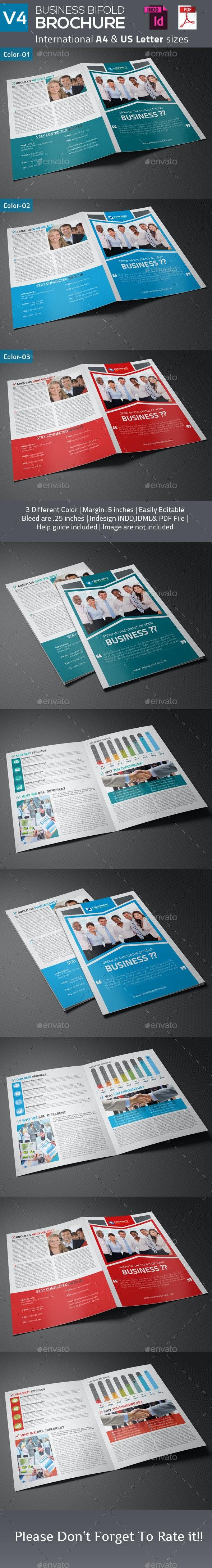 Business Bifold Brochure V4 - Corporate Brochures