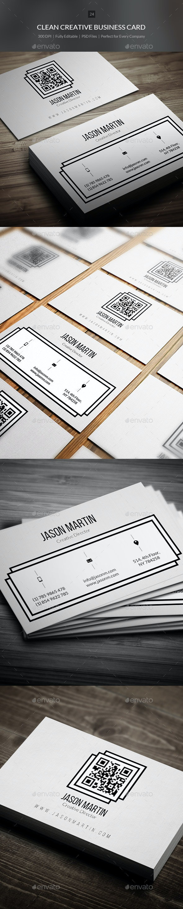 Clean Creative Business Card - 24 - Creative Business Cards