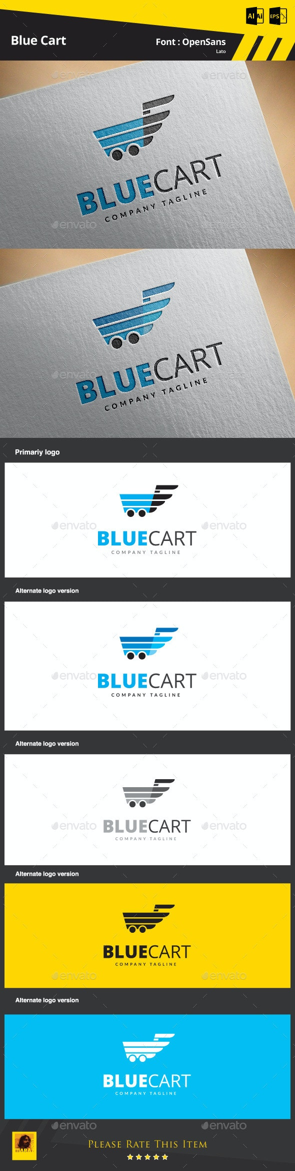 Blue Cart - Symbols Logo Templates