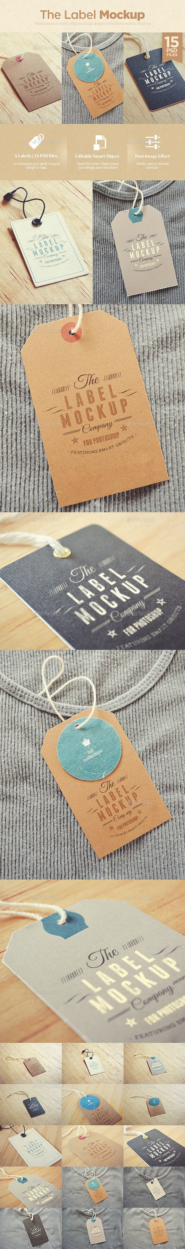 Tags / Labels Logo Mock-up - Miscellaneous Print