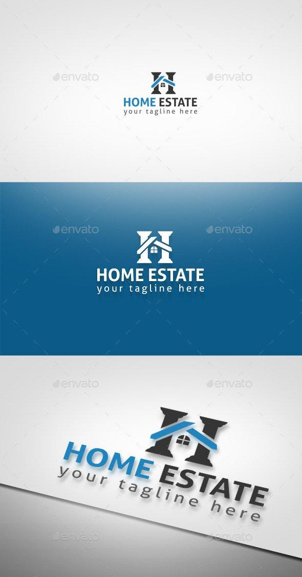 Home Estate - Buildings Logo Templates