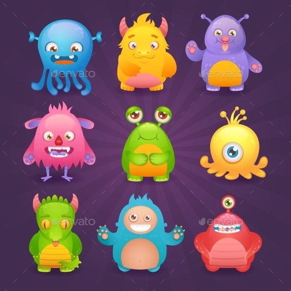 Monsters Set - Monsters Characters
