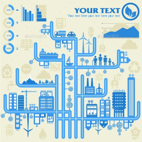 Eco City Infographics - Infographics