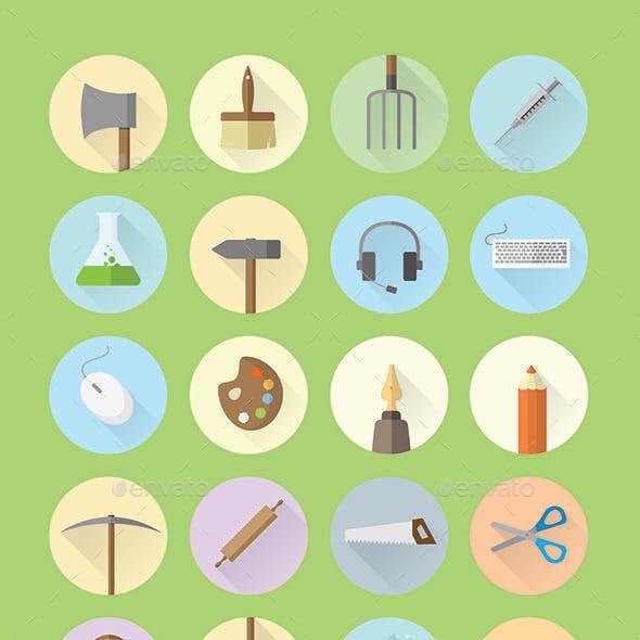 Work & Hobby Icon Set