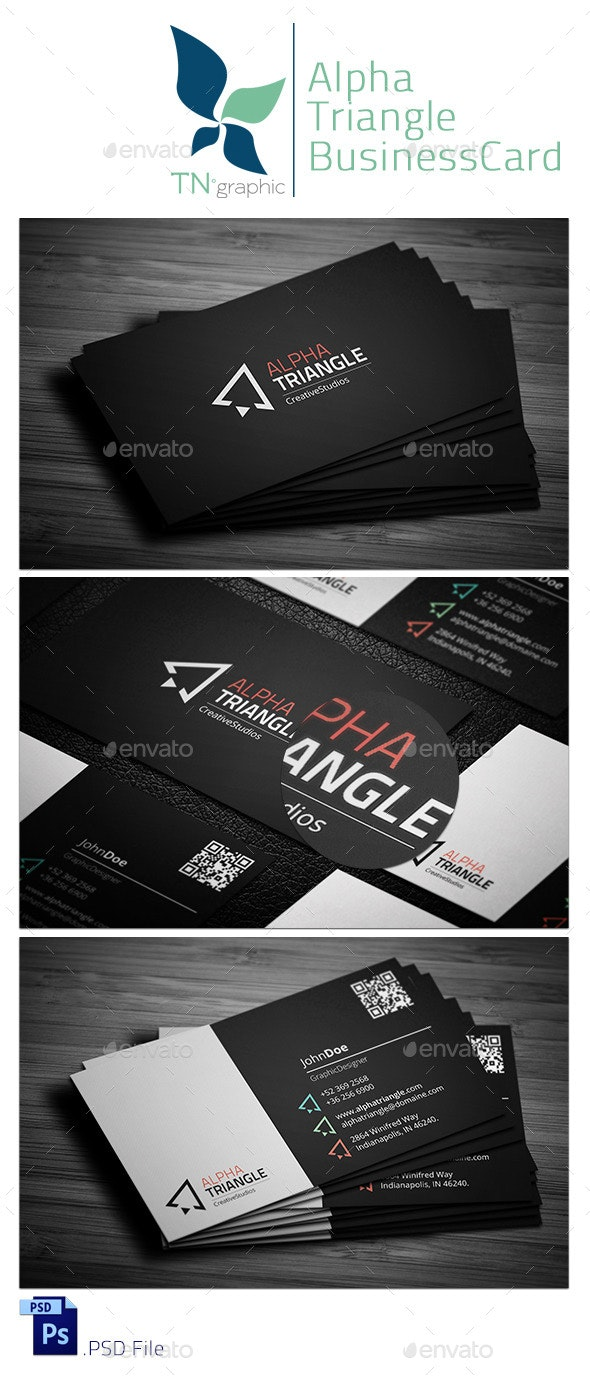 AlphaTriangle BusinessCard - Corporate Business Cards
