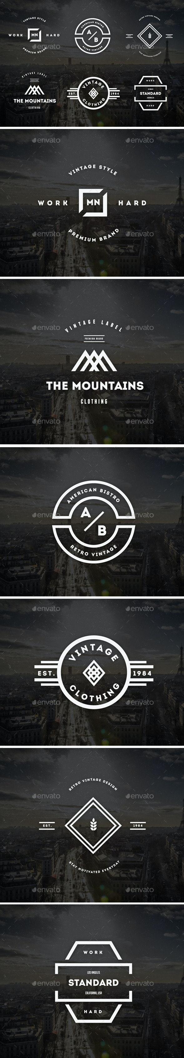 Vintage Labels & Badges / Logos V22 - Badges & Stickers Web Elements