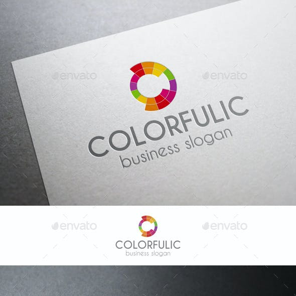 Colorful Circles C Letter Logo