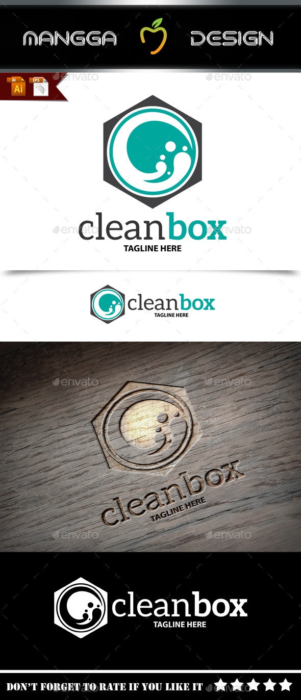 Clean Box Logo - Symbols Logo Templates