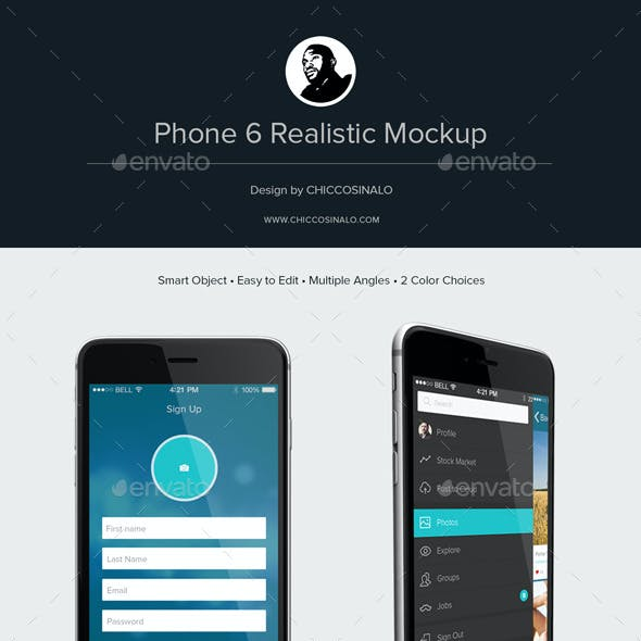 Phone 6 Realistic Mockup