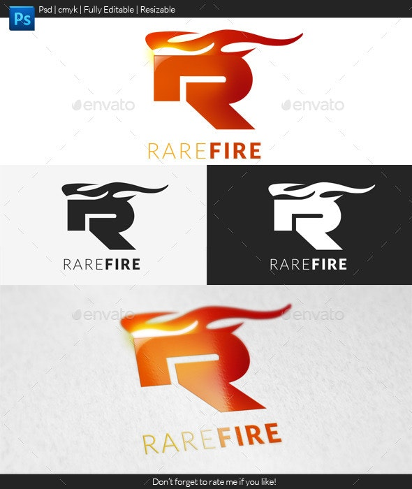 Rare Fire - Letters Logo Templates