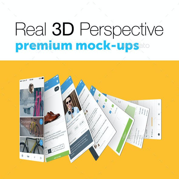 4 Real 3D Perspective Mock-Ups Phone 6 Edition (II)