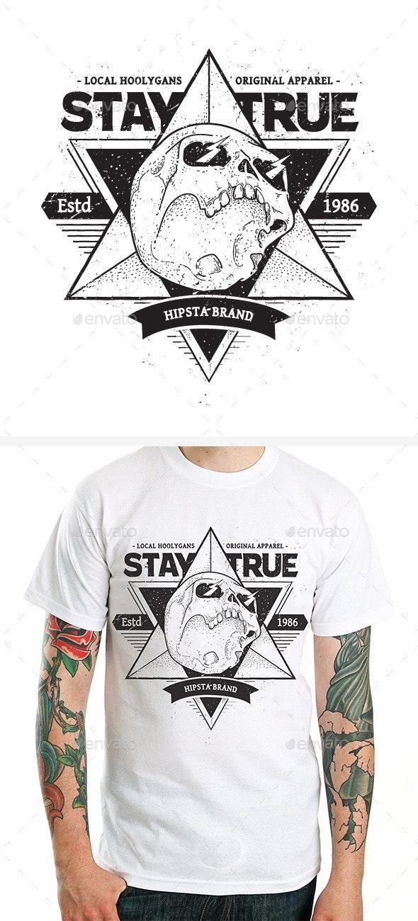 Dotwork Skull Print #2 - Tattoos Vectors