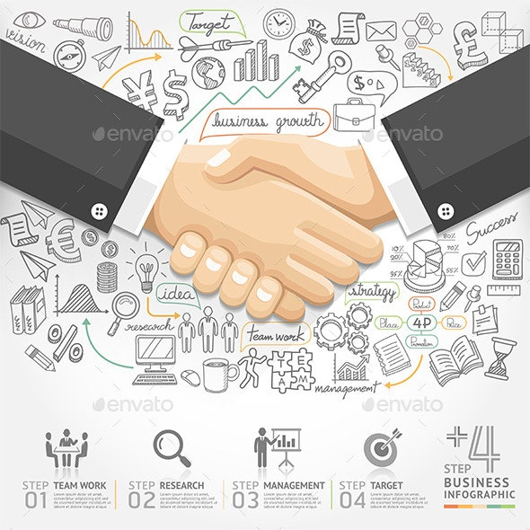Business Handshake Infographics. - Infographics