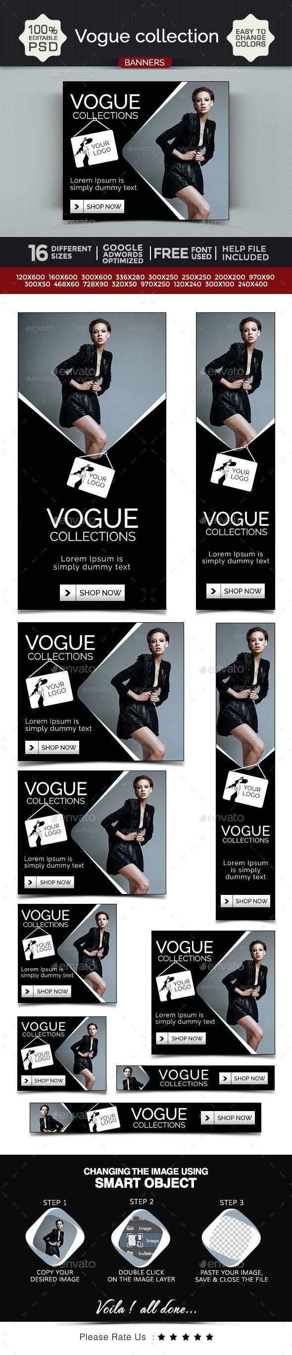 Vogue Collection Banner Design Set - Banners & Ads Web Elements