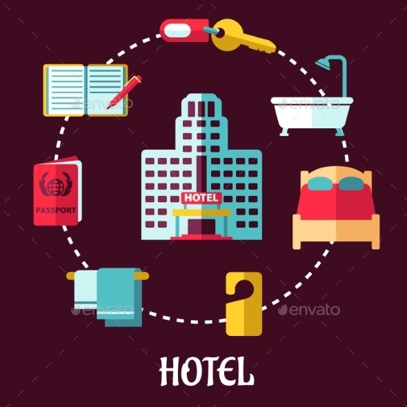 Hotel Service Flat Design - Travel Conceptual