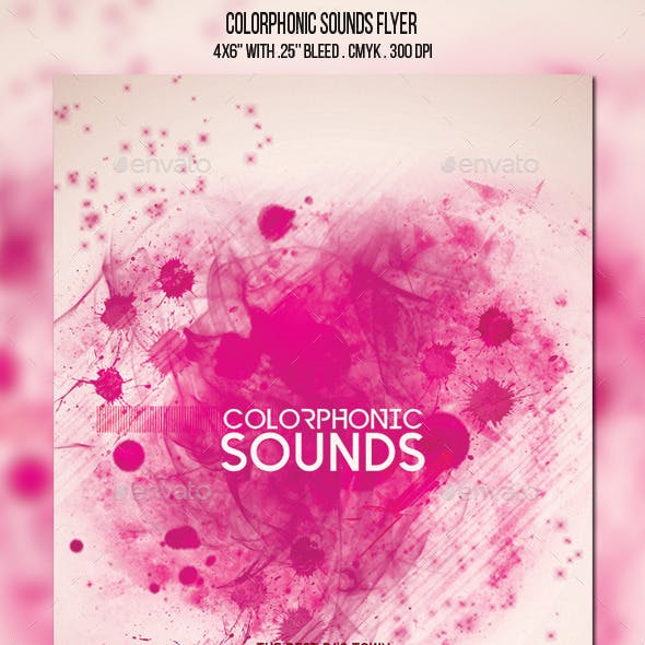 Colorphonic Sounds Flyer