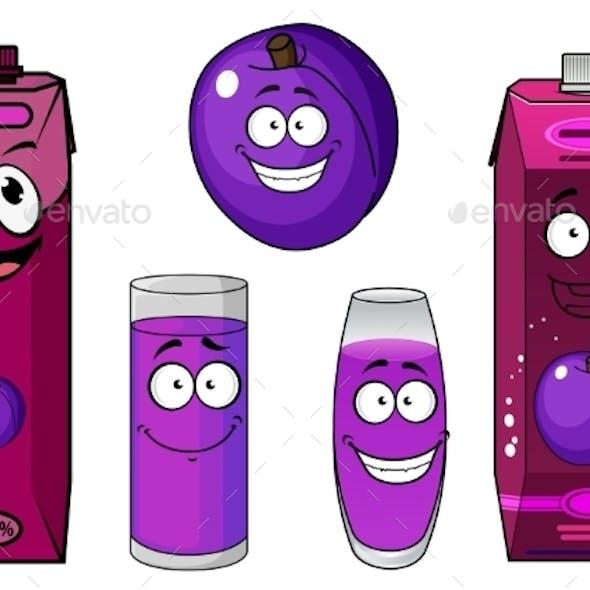 Cartoon Juice Drinks