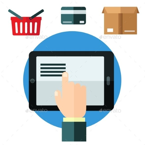 Online Shopping or E-Commerce Concept