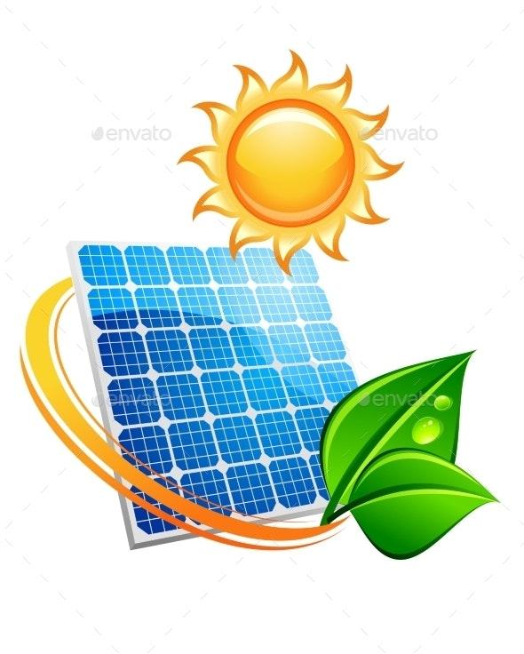 Sustainable Solar Energy Concept - Technology Conceptual