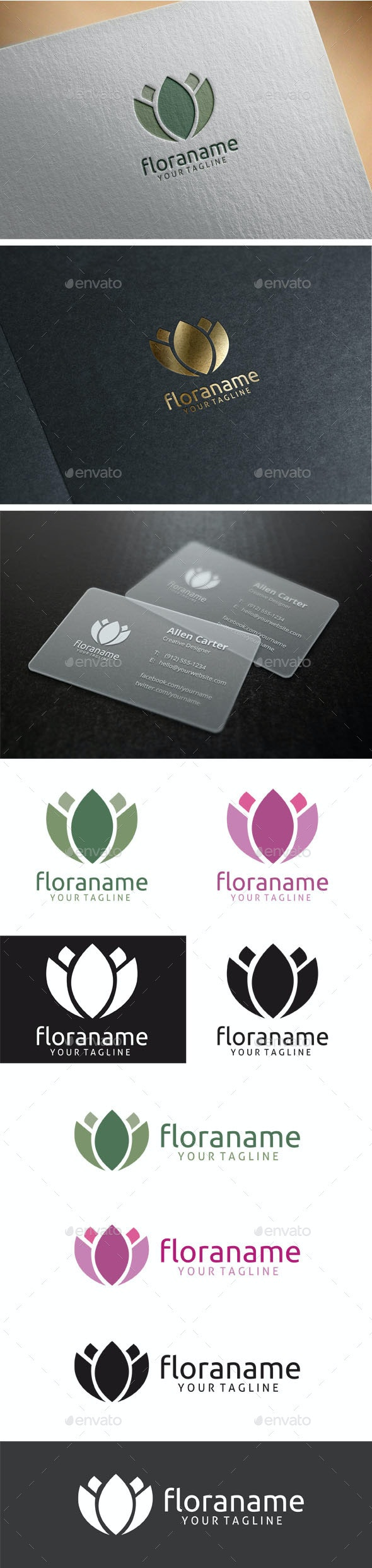 Flora Logo - Nature Logo Templates