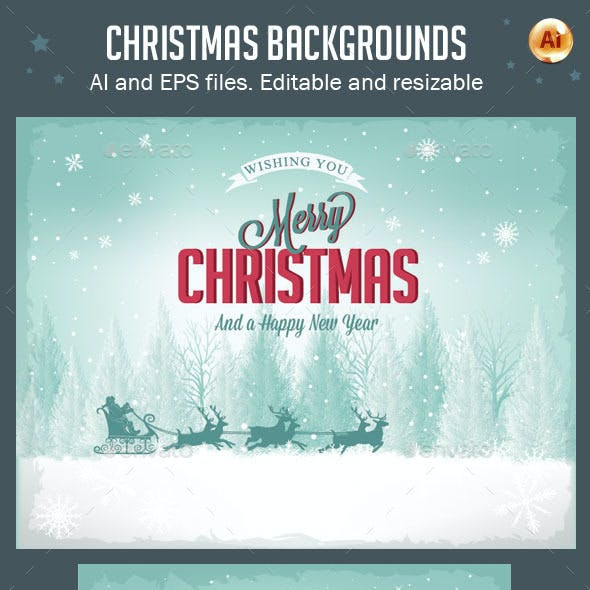 Vector Christmas Backgrounds Vol.2
