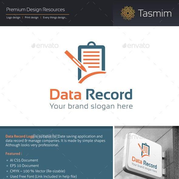 Data Record Logo Template