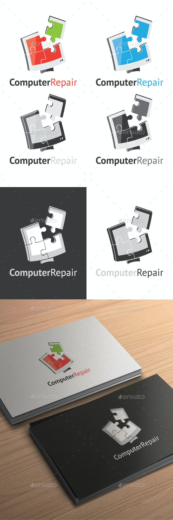 Computer Repair Logo - Objects Logo Templates