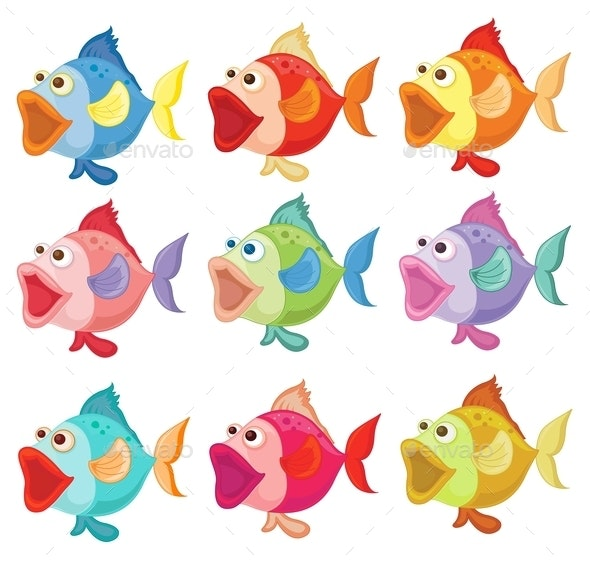 Colorful Fishes - Animals Characters