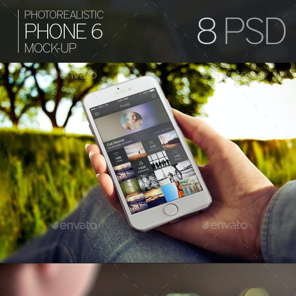 Photorealistic Phone 6 Mock-Up