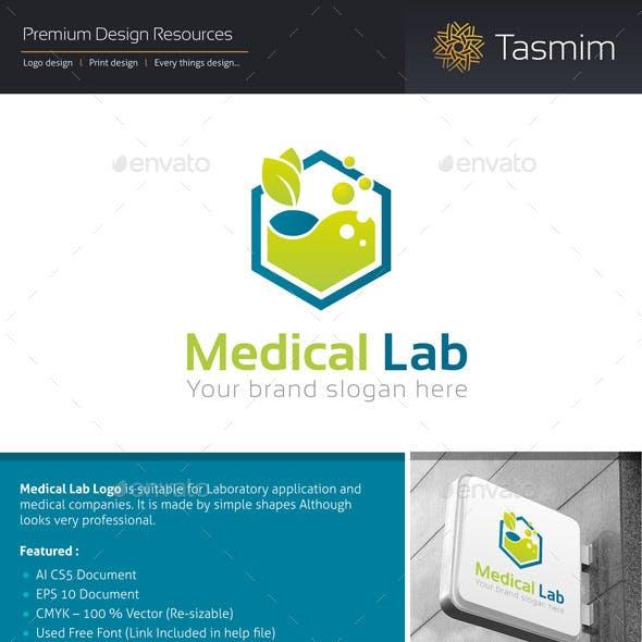 Medical Lab Logo Template