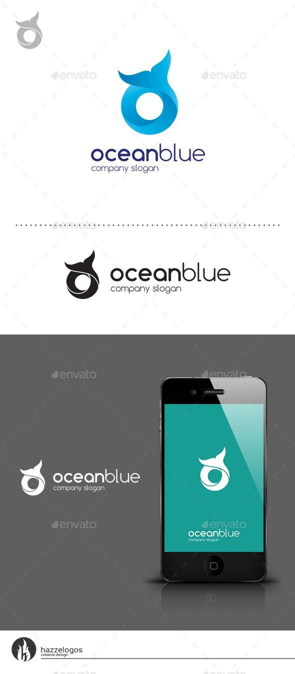 Ocean Blue - Letter O Logo - Letters Logo Templates