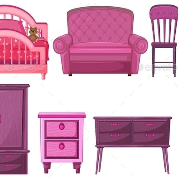 Furniture in Pink