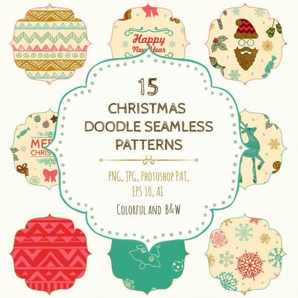 15 Christmas Seamless Patterns - Add-ons
