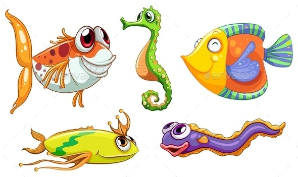 Sea Creatures - Animals Characters