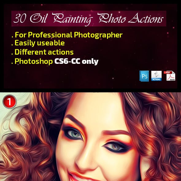 21 Oil Painting Photo Actions