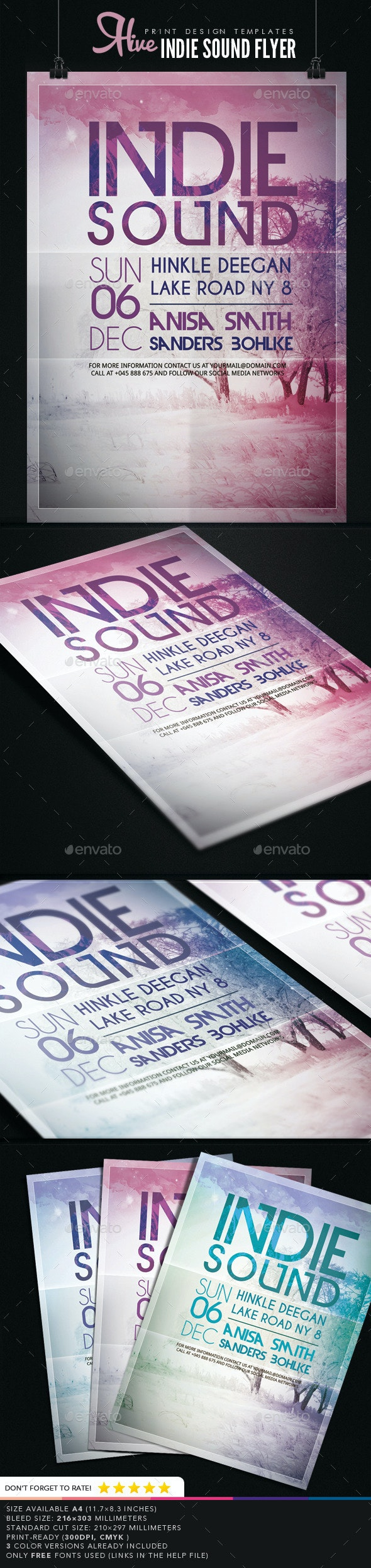 Indie Sound Flyer  - Events Flyers