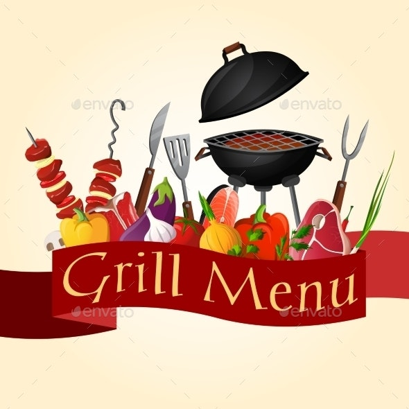 Bbq Grill Background - Food Objects