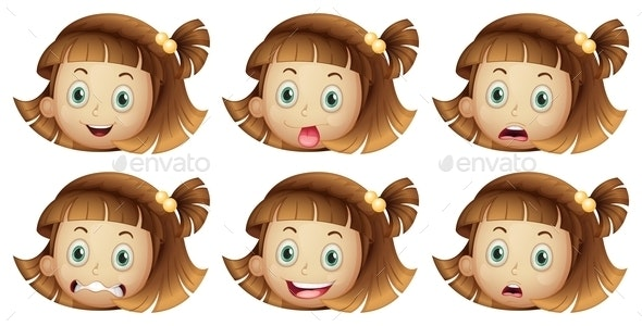 Different Facial Expressions - People Characters