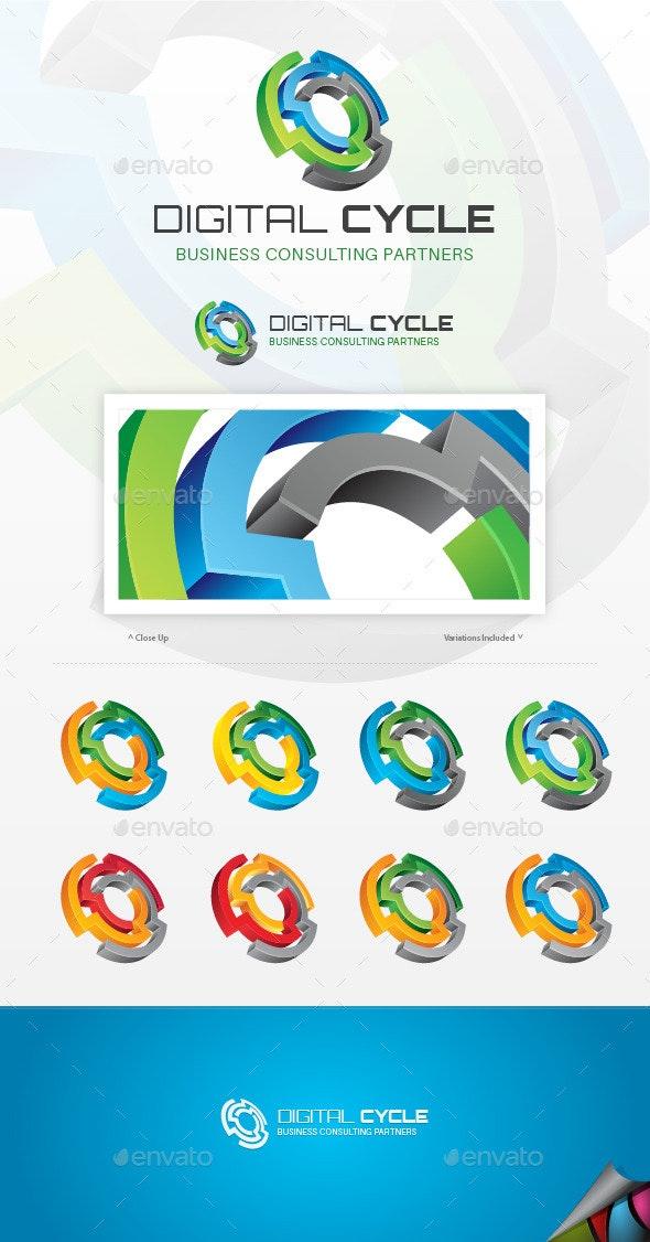 Digital Cycle Logo - Symbols Logo Templates