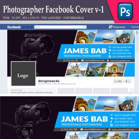Photographer Facebook Cover v-1
