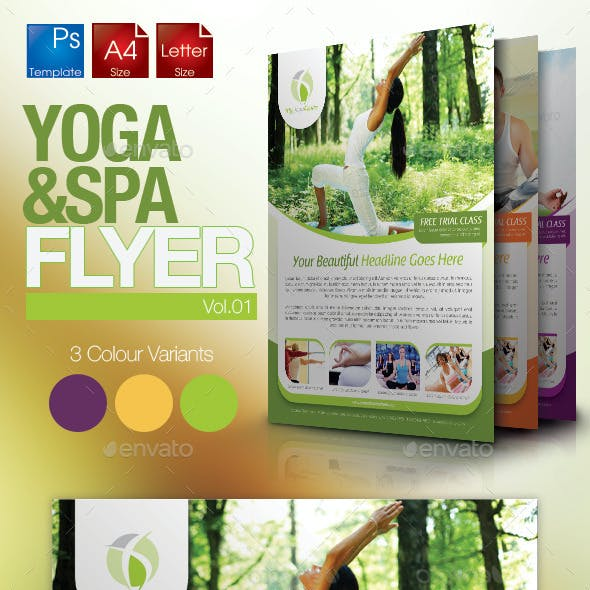 Simple Yoga Flyer Vol.1