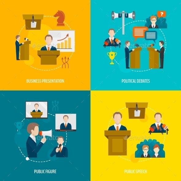 Public Speaking Flat Set - Communications Technology