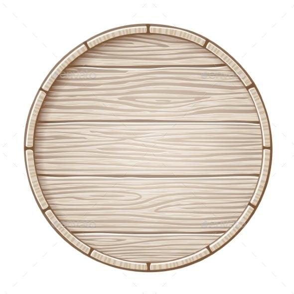 Vector Wooden Barrel