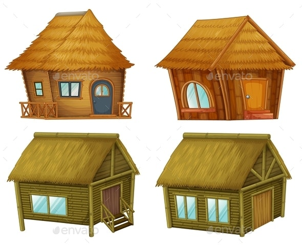 Set of Cabins - Buildings Objects