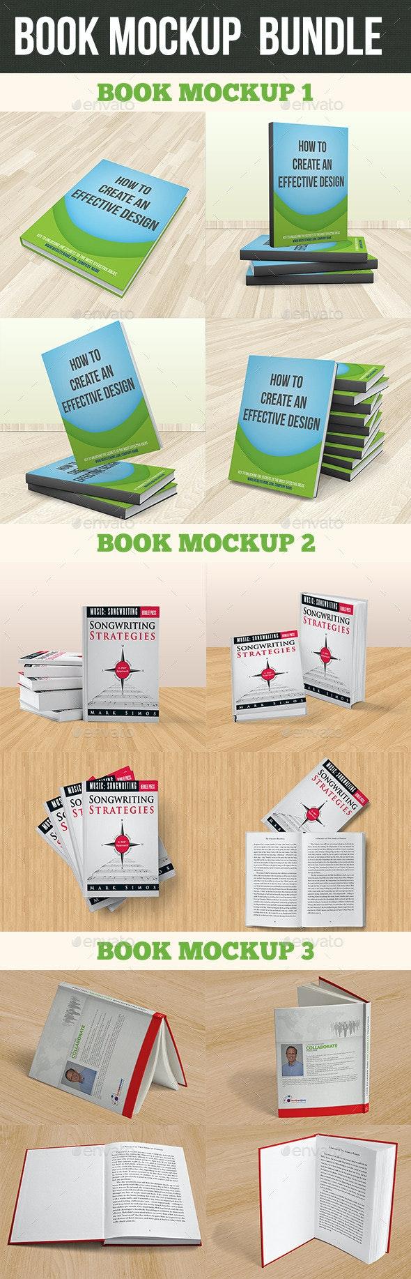 Book Mockup Bundle - Product Mock-Ups Graphics