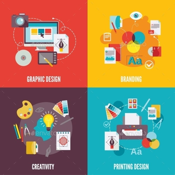 Graphic Design Icons Flat - Concepts Business