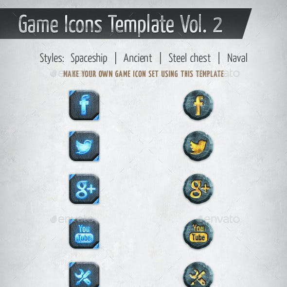 Game Icons Template Vol. 2
