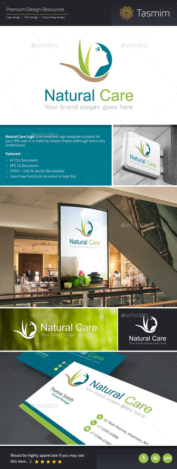 Natural Care Logo Template - Humans Logo Templates